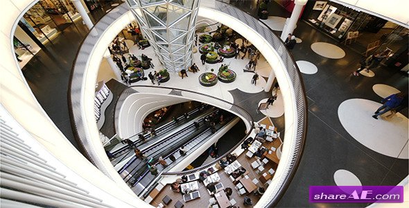Videohive Busy Day in Shopping Mall - Stock Footage