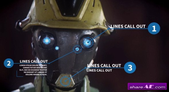 Videohive Argon - 30 Line Call Outs - After Effects Project