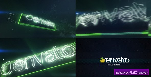 Videohive Neon Glitch Logo Reveal - After Effects Project
