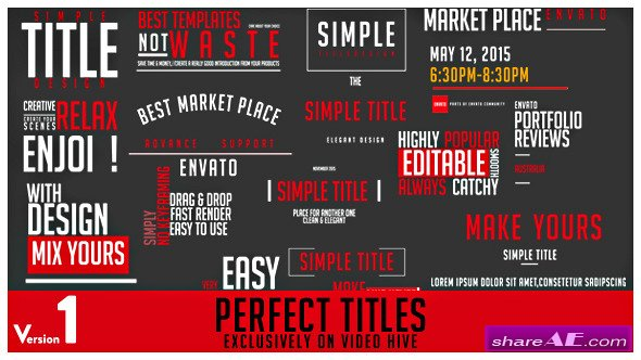 Videohive Perfect Titles - After Effects Project