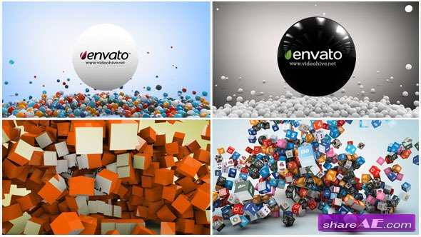 Videohive 2 In 1 Social Network Logo Reveal - After Effects Project