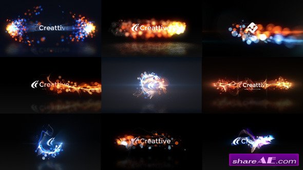 Videohive Quick Logo Sting Pack 07: Energetic Particles - After Effects Project