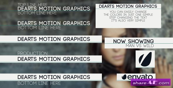 Videohive Clean Title Lower Third - After Effects Project