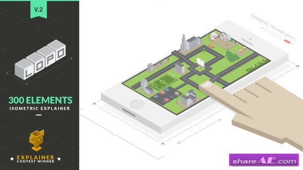 Videohive Lopo | Isometric Explainer Kit - After Effects Project