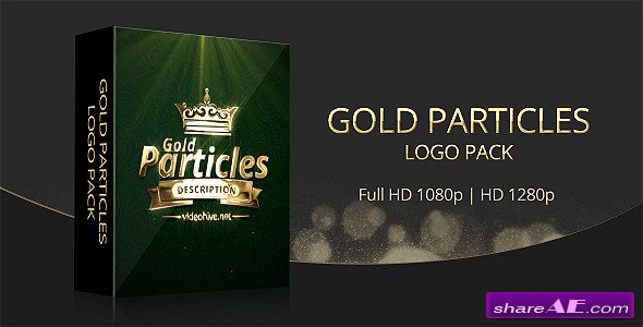 Videohive Gold Particles Logo Pack - After Effects Project