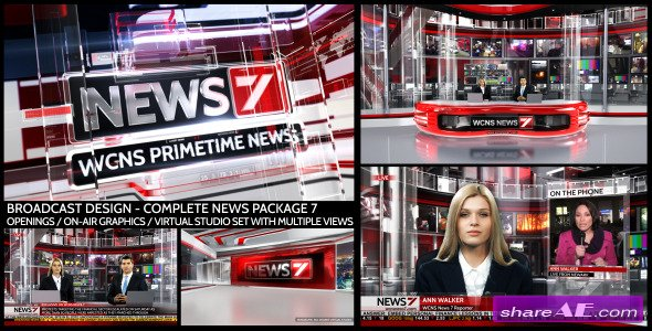 Videohive Broadcast Design - Complete News Package 7 - After Effects Project