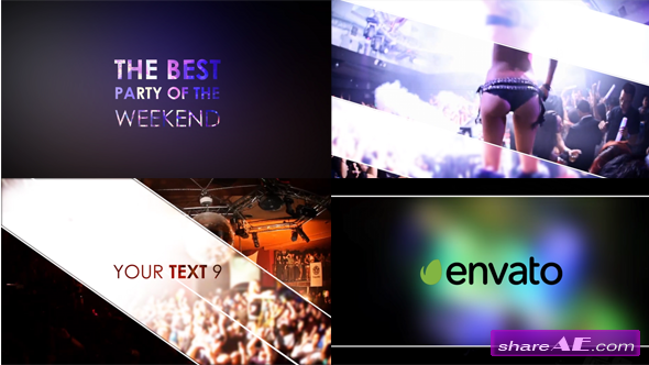 Videohive Night Party Slideshow - After Effects Project