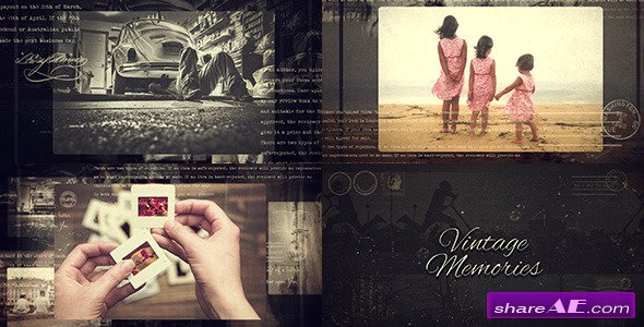 Videohive Vintage Memories - After Effects Project