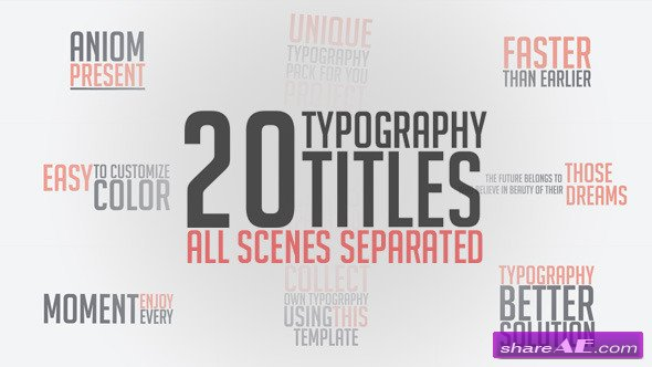 Videohive Unique Typography - After Effects Project