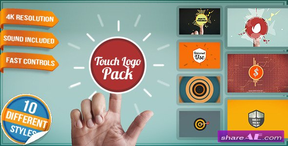 Videohive Touch Logo Pack - Flat Interactive Media Reveals - After Effects Project