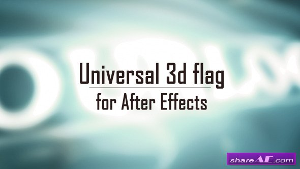 Videohive Universal 3D Flag - After Effects Project