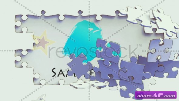 RevoStock Cartoon Puzzle Breaking Logo Reveal - After Effects Project