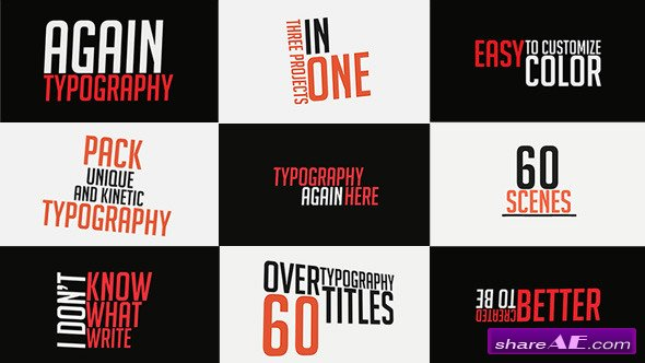 Videohive 60 Title Animations - After Effects Project