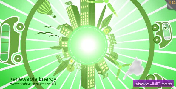 Videohive Renewable Energy - Eco Planet - After Effects Project