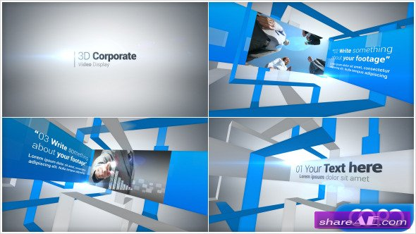 videohive simple corporate slideshow » free after effects, Powerpoint templates