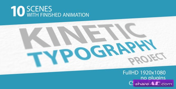 Videohive Kinetic Typography 3D - After Effects Project