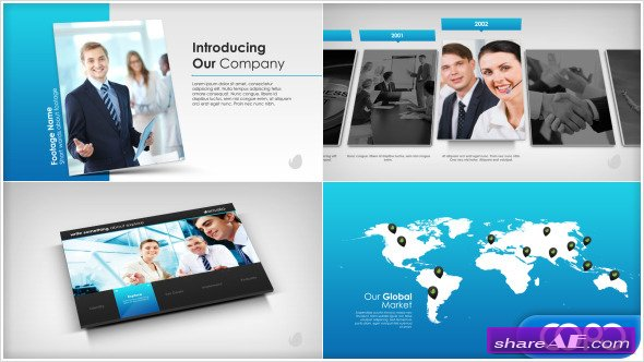 Videohive Simple Company Presentation - After Effects Project