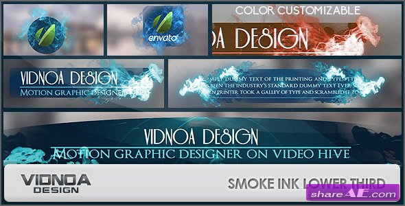 Videohive Smoke Ink Lower Thirds Pack - After Effects Project