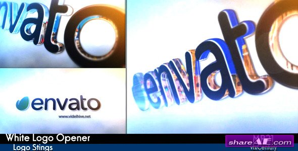 Videohive White Logo Opener - After Effects Project