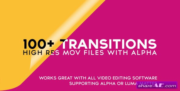 Videohive 100 alpha transitions pack motion graphic free after effects templates after for Motion graphics transitions