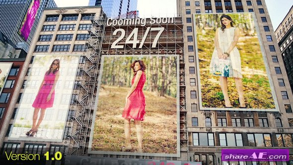 Videohive City - Ads on Buildings - After Effects Project