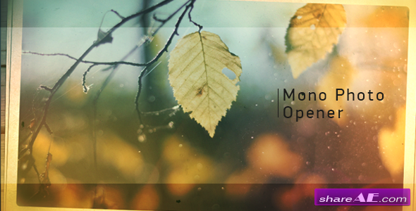 Videohive Mono Photo Opener - After Effects Project