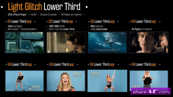 Videohive Light Glitch Lower Third - After Effects Project