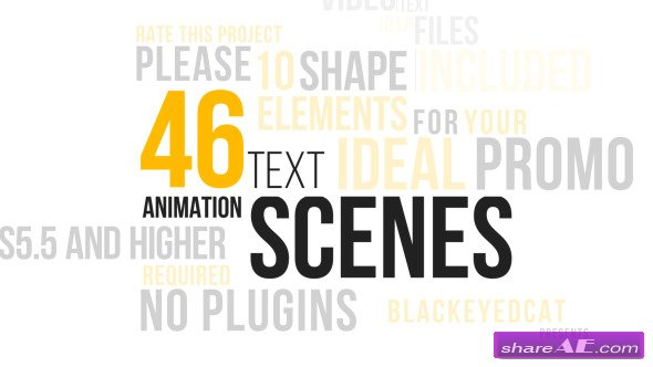 Videohive 46 Dynamic Text Animations Pack - After Effects Project