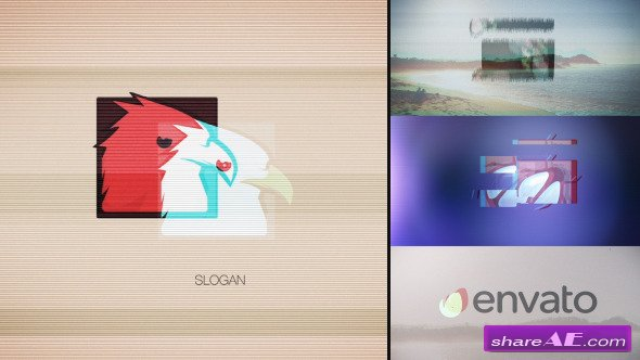 Videohive Quick Glitch Logo Pack - After Effects Project