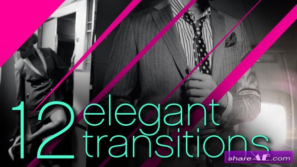 Videohive 12 Elegant Transitions - After Effects Project