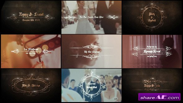 Videohive Wedding Titles » free after effects templates