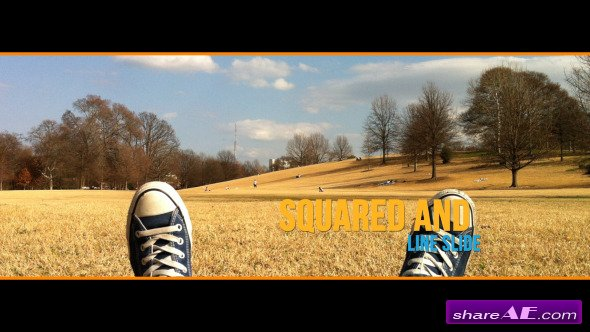 Videohive Squared and Line Slide - After Effects Project