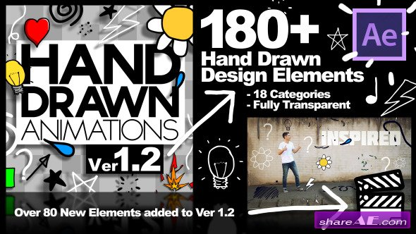 Videohive Hand Drawn Animations - Ver 1.2 - After Effects Project