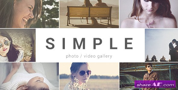 Videohive SIMPLE - Parallax Photo Gallery - After Effects Project