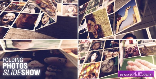 Videohive Folding Photos Slideshow - After Effects Project