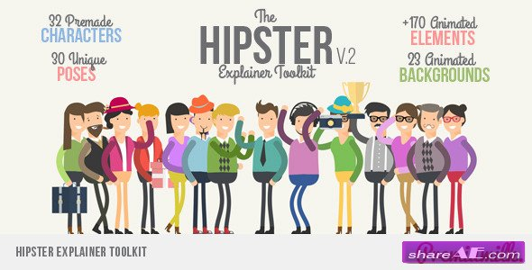 Videohive Hipster Explainer Toolkit - After Effects Project