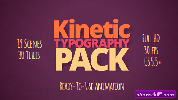 Videohive Kinetic Typography Pack 10997449 - AFTER EFFECTS PROJECT
