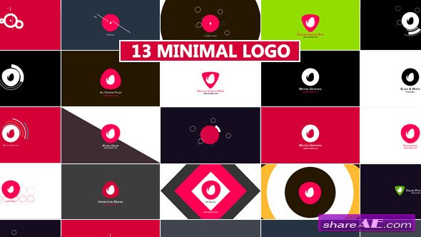 Videohive Minimal Logo Reveal Pack - After Effects Projects