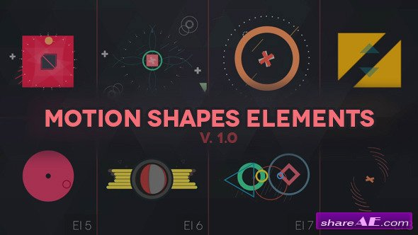 Videohive MOTION SHAPES - ANIMATED ELEMENTS - After Effects Projects