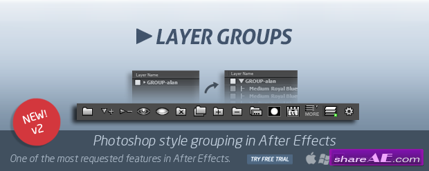 Layer Groups 2 (Aescripts)