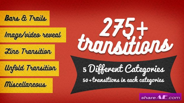 Videohive 275+ Transitions - After Effects Project