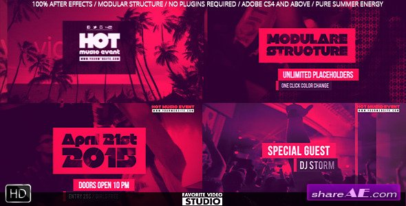 Hot Music Event - After Effects Projects (Videohive)