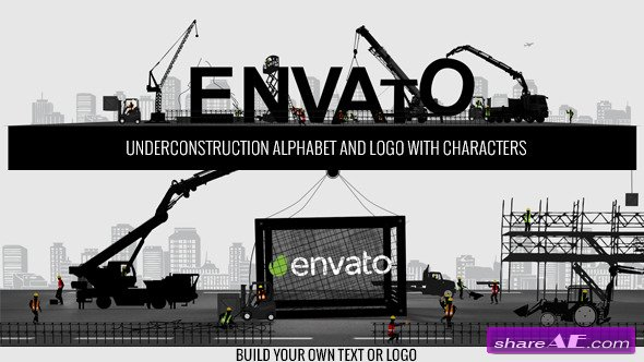 Logo Constructor-Alphabet Builder With Characters - After Effects Projects (Videohive)