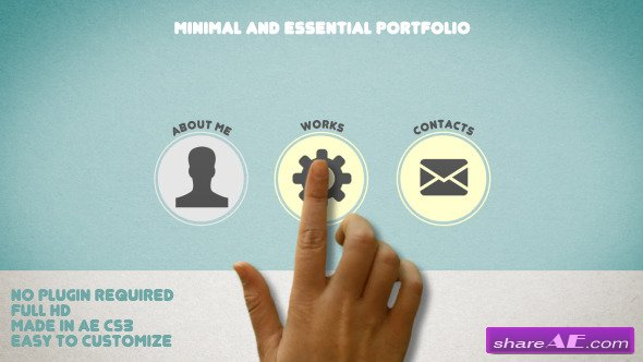 Minimal and Essential Portfolio - After Effects Projects (Videohive)