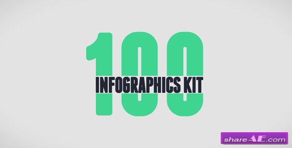 100 Infographics Kit - After Effects Projects (Videohive)