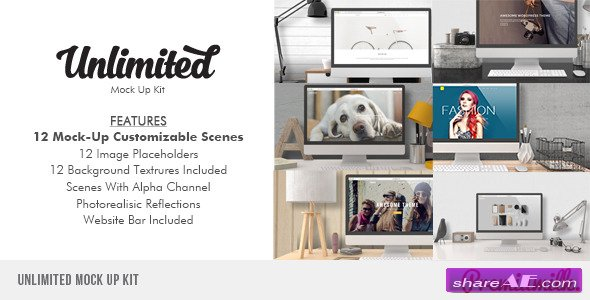 Videohive Unlimited Mock Up Kit - After Effects Project