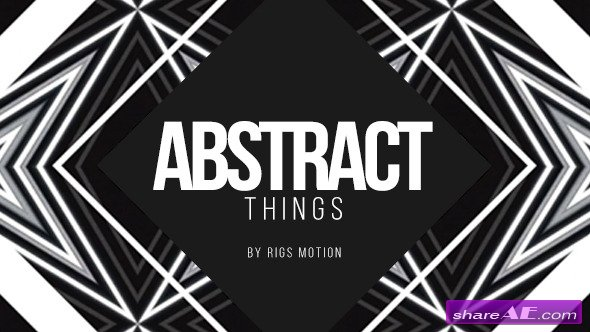 Videohive Abstract Things // Fashion Opener - After Effects Project