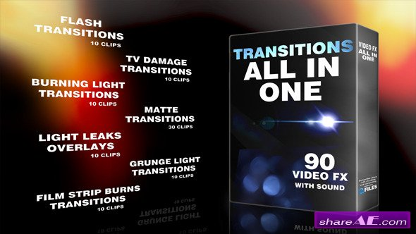 Videohive Transitions All In One - Motion Graphics