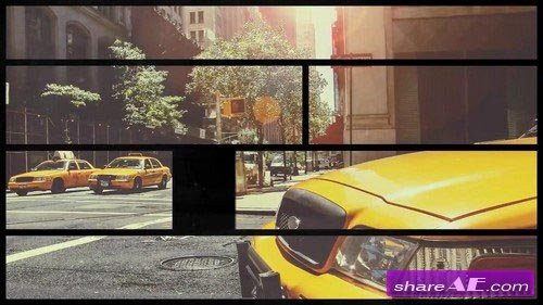 Retro Split Frame Slideshow - After Effects Projects (Motion Array)