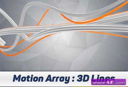 3D Lines - After Effects Projects (Motion Array)